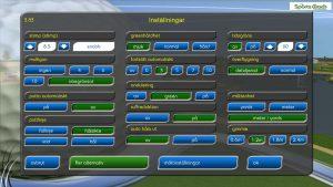 Inställningar-golfsimulator