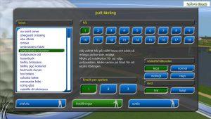 Putt-tävling-golfsimulator